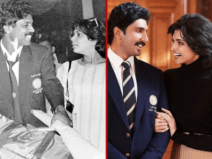 Ranveer Singh and Dipika Padukone slay the look of Kapil Dev and Romi Dev in their latest Movie