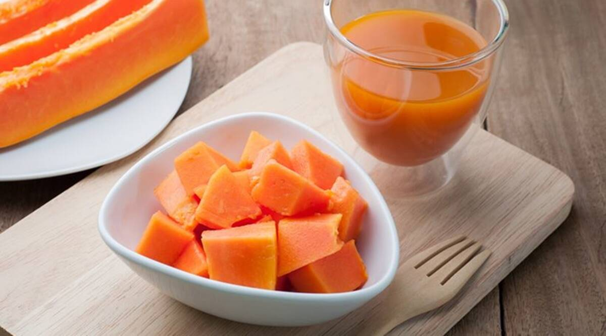 papaya juice for skin lightening