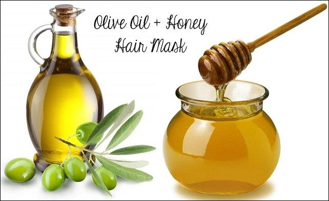 olive oil and honey hair mask'