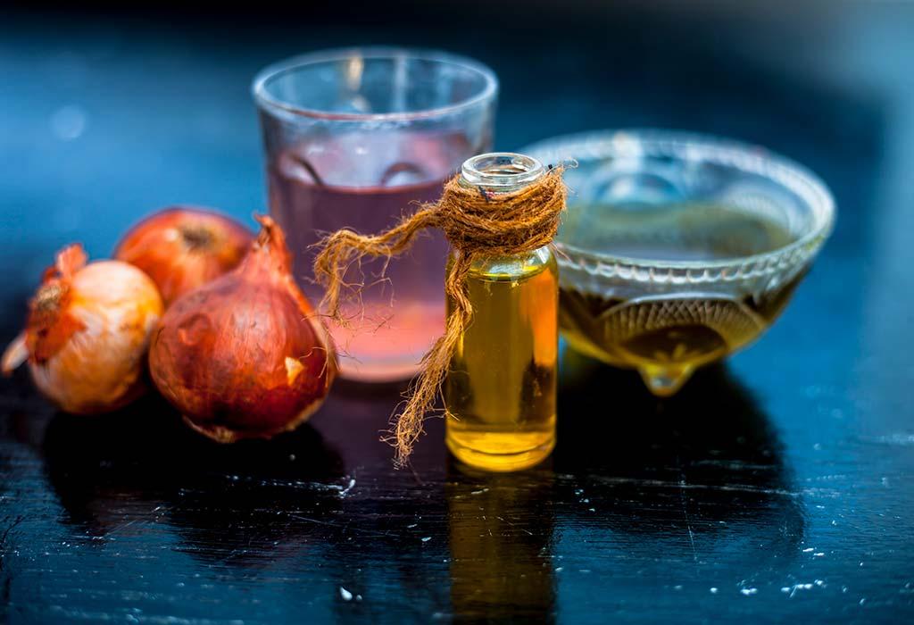 onion juice for eyebrow